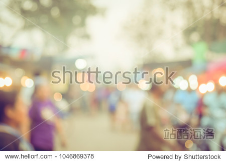 Festival Event day time with People in city Blurred defocused Bokeh abstract Background