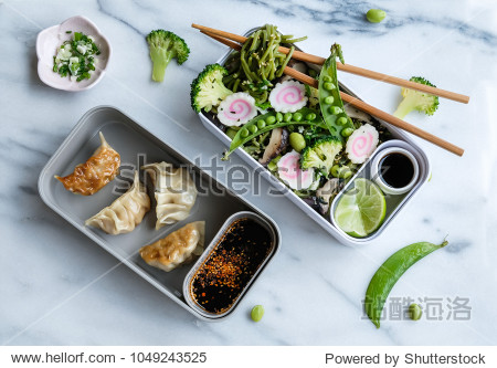 Homemade Japanese meal / Stir fry Chasoba with Gyoza Bento / Delicious and healthy for a clean living lifestyle