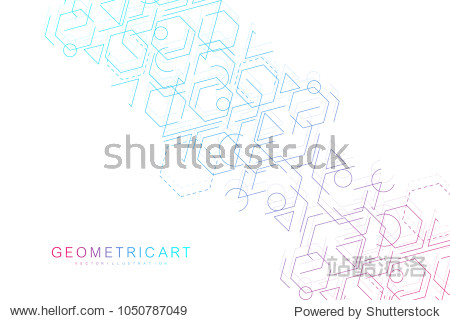 Science network pattern  connecting lines and dots. Modern futuristic virtual abstract background molecule structure for medical  technology  chemistry  science. Scientific hexagonal vector