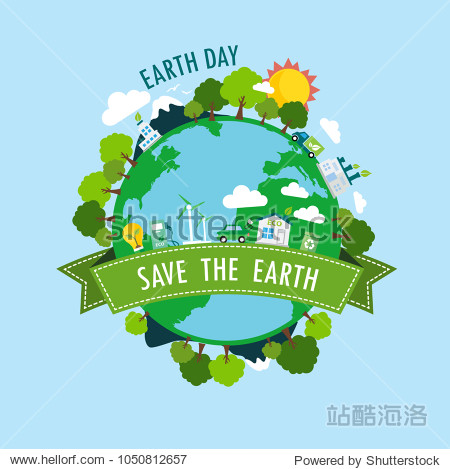 Happy Earth Day.Ecology Concept