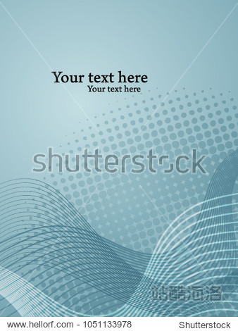 Vector backdrop template with abstract undulating shapes.