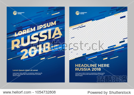 Layout Template design of the poster for sport event  2018 trend
