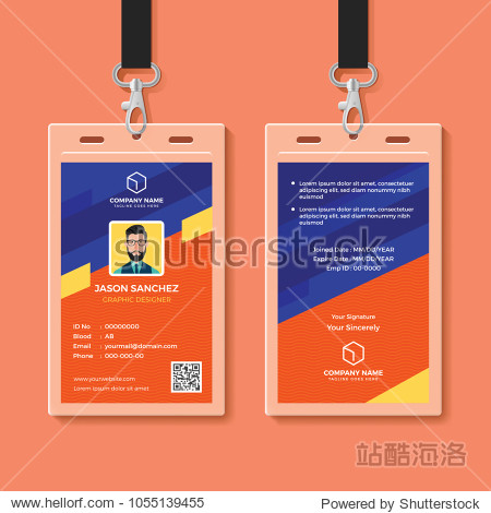 Modern Graphic ID Card Design Template