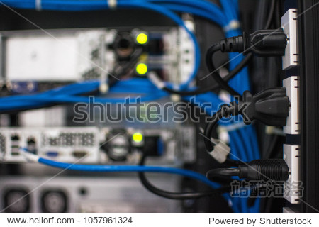 Power Plug in Server With Power Line Wide