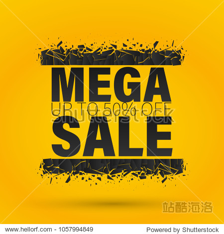 Sale banner template design  Big sale special offer. end of season special offer banner.Vector Banner with explosion effect.