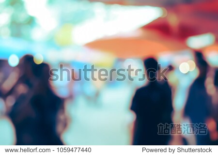 (Vintage tone) Blurred defocused Lights Bokeh abstract Background