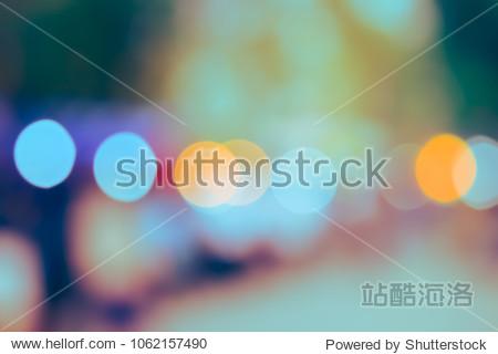 (Vintage tone) Blurred defocused Lights Bokeh abstract Background