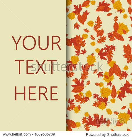 Autumn frame with leaves. Vector