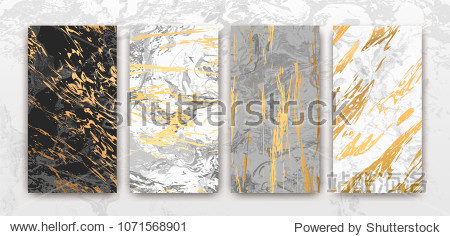 Gold  black  white marble template  artistic covers design  colorful texture  realistic cube  backgrounds. Trendy pattern  graphic poster  geometric brochure  cards. Vector illustration.