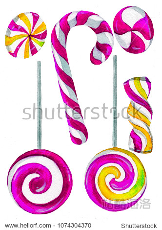 beautiful painted sweets candy