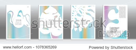 Holographic cover. Tropical flyer on rainbow background.  Fluid poster design.  Brochure foil design. Holo backdrop. Stylish vector cover design.  Abstract gradient vintage texture.