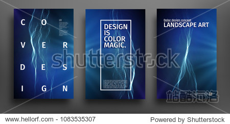 Party poster template. Music event poster design. Technology background abstract. Audio waves design.