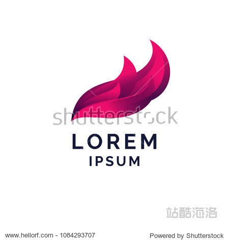 Abstract sign with waves on white background. Vector illustration.