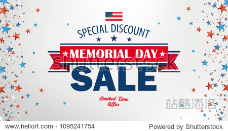 Header for the Memorial Day sale. Eps 10 vector file.