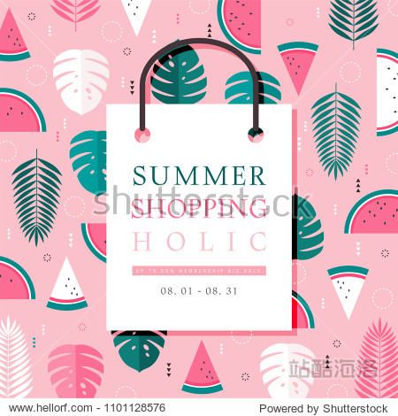 Summer concept pattern shopping event design