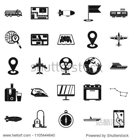 Computer forensics icons set. Simple set of 25 computer forensics icons for web isolated on white background