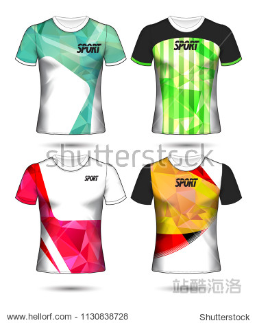 Set of soccer or football jersey template t-shirt style  Design your football club vector illustration
