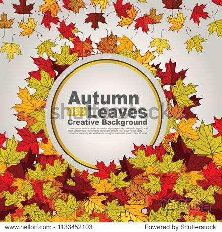 autumn leaves creative background. vector illustration
