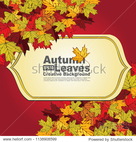 Autumn sale background layout decorate with leaves for shopping sale or promo poster and web banner. Vector illustration template.