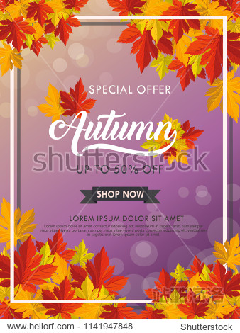 Autumn vector background template for publication