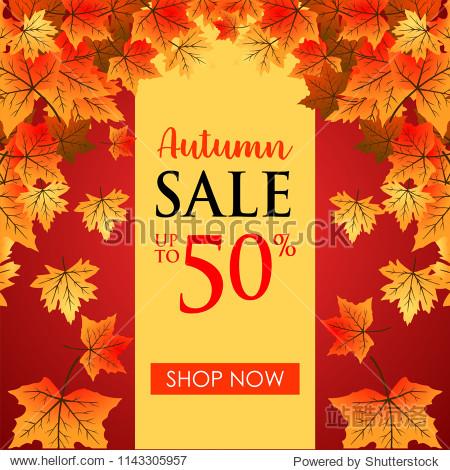 Autumn background leaf fallen