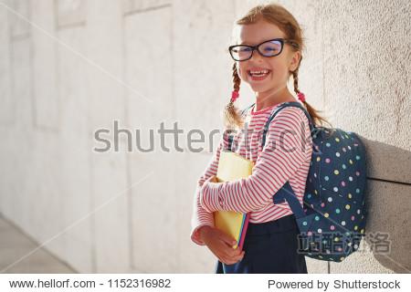 child girl schoolgirl elementary school student