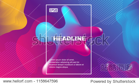 A color geometric abstract vector background composed of fluid shapes