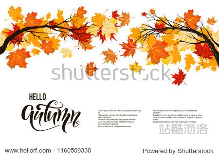 Autumn nature branch