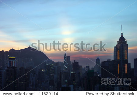 Sunset over Happy Valley, Hong Kong
