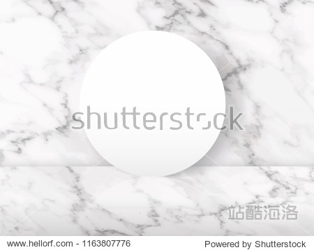 Luxury Mable Stand  Abstract texture floor top view for display your product and packaging design vector illustration