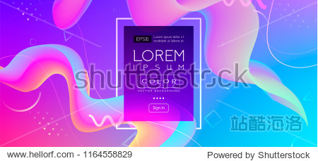 Abstract Fluid creative templates  cards  color covers set. Geometric design  liquids  shapes. Trendy vector collection. Pastel and neon design  geometric fluid graphic shape  vector background.