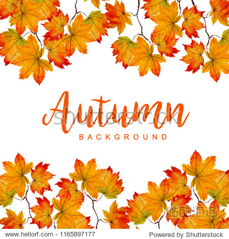 Beautiful Watercolor Autumn Background