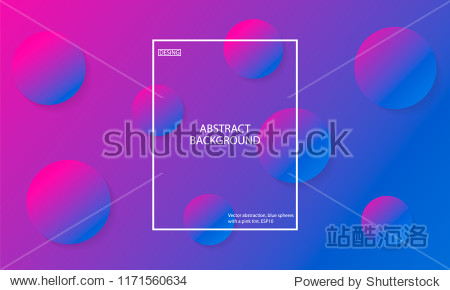 Vector abstraction  blue spheres with a pink tint. ESP10. Minimal geometric background. Gradient shapes composition.