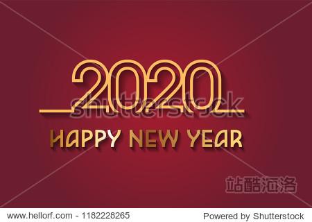 Happy New Year 2020 Design.