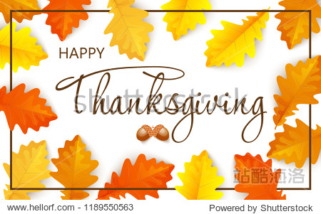 Thanksgiving day poster design. Autumn greeting card.