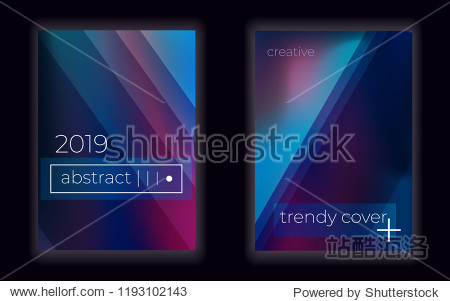 creative geometric fluid  wallpaper.  glow.Modern gradient mesh vector cover set. Abstract background.
