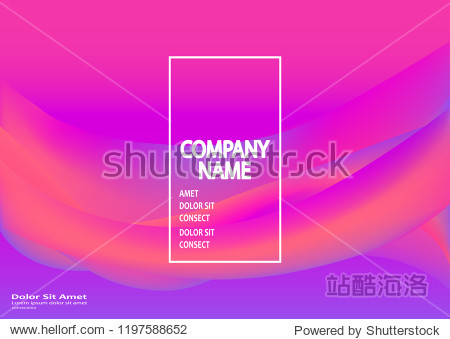 Fluid shapes. Wavy liquid background. Bright abstract backdrop concept. Trendy gradient waves design template vector Poster Layout Magazine Flyer Banner Brochure Product Cover