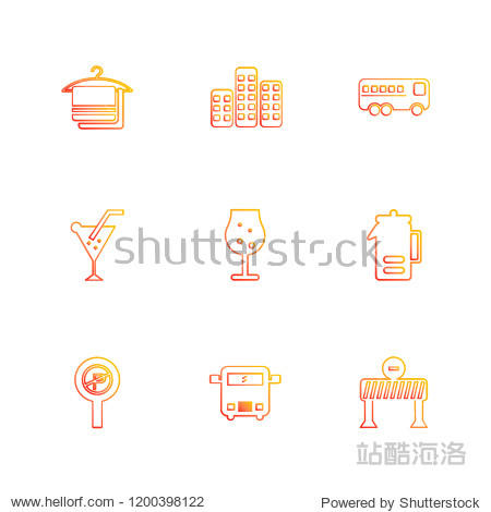 Set of 9 icons  for web  internet  mobile apps  interface design: business  finance  shopping  communication  fitness  computer  media  transportation  travel  easter  christmas  summer  device