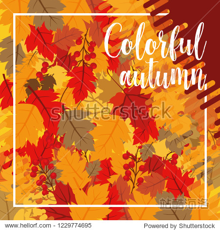 Autumn banner with leaves