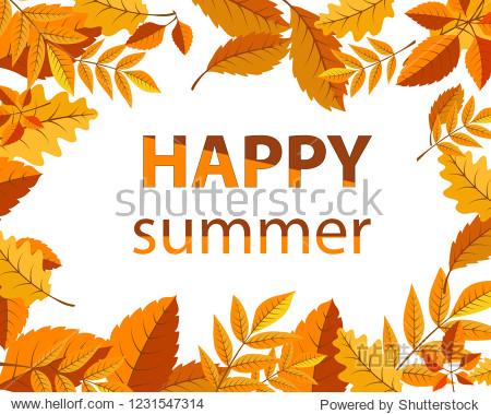 Vector illustration of summer leaves for background