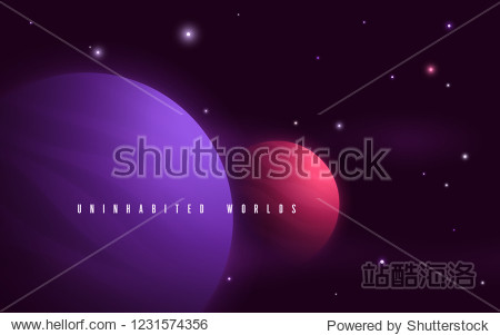 Deep space sci-fi abstract vector illustration  background  poster.