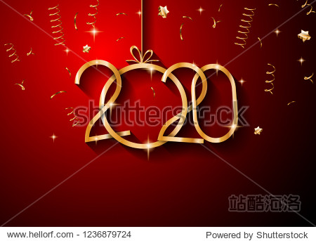 2020 Happy New Year Background for your Seasonal Flyers and Greetings Card or Christmas themed invitations