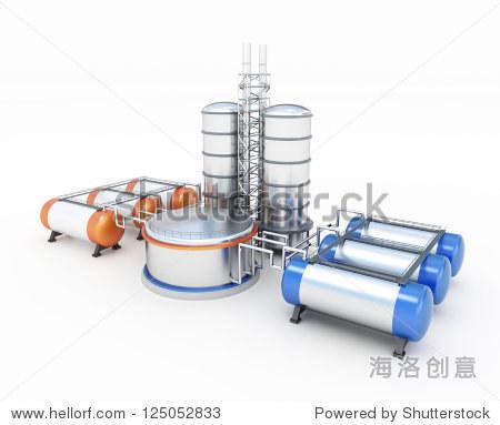 3d model of refinery