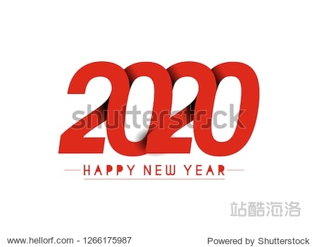 Happy New Year 2020 Design Patter  Vector illustration.
