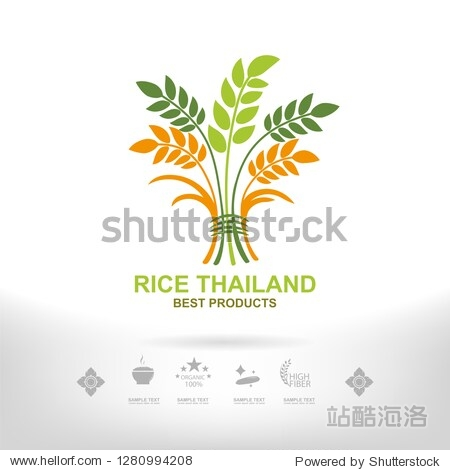 Logo Rice for Packaging Design Concept Thailand Style