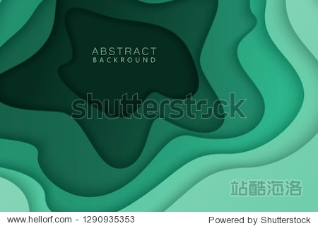 Paper cut background. Abstract realistic paper decoration for design. 3d Relief. Carving art. Vector illustration. Cover layout design template.