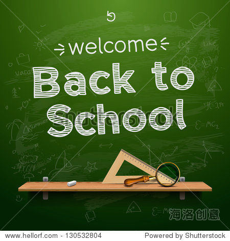 Back to school background  vector illustration.
