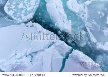 Drift Ice and tourist cruise on the Sea of Okhotsk in Abashiri Hokkaido Japan