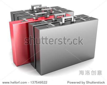 A special Briefcase. 3D rendered Illustration.