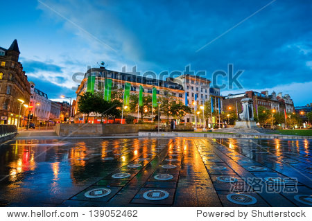 Piccadilly square is the main square in Manchester city centre where people come to relax and enjoy.